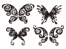 Tattoo. Stylize abstract butterflies in spots Royalty Free Stock Photos