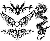 Tattoo. Illustration of tribal tattoo pattern vector illustration