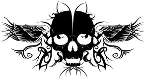 Tattoo. Skull silhouette designed for your tattoo Royalty Free Stock Image