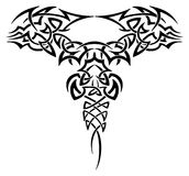 Tattoo. Vector celtic monochrome  tribal tattoo Royalty Free Stock Image