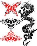 Tattoo. Vector illustrations of tribal tattoo royalty free illustration