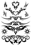 Tattoo. Design set, vector templates Royalty Free Stock Image