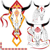 Tattoo. The complete set of colour vector sketches for tattoo Stock Photography