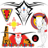 Tattoo. The complete set of colour vector sketches for tattoo Stock Images