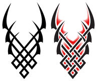 Tattoo. Black flames for tattoo and tribal, vector illustration on white Stock Photo