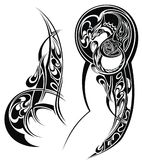 Tattoo with  abstract style design. Tattoo arm Stock Photography