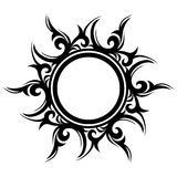 Tattoo, abstract sun, flower Stock Image