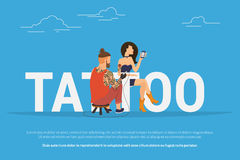 Tattoo addiction concept design Stock Image