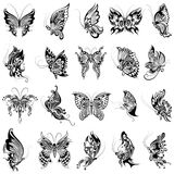 Tattoo art design of Butterfly collection Stock Images