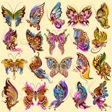 Tattoo art design of Butterfly collection Stock Photography