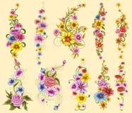 Tattoo art design of Floal Flower collection Stock Photos