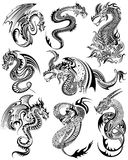Tattoo art design of Furious Dragon collection. Illustration of Tattoo art design of Furious Dragon collection Stock Photos