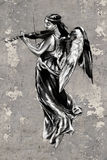 Tattoo art illustration, angel with violin Royalty Free Stock Images