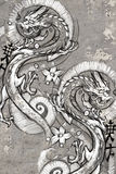Tattoo art illustration, japanese dragons Stock Image
