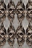 Tattoo art illustration, skulls wall Stock Image
