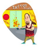 Tattoo Artist. Illustration of tattoo artist in vector Royalty Free Stock Image