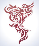 Tattoo background. Abstract background in tattoo style Royalty Free Stock Images