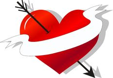 Tattoo banner love Stock Image