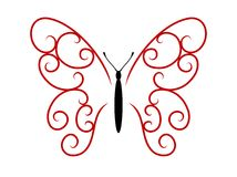 Tattoo butterfly Stock Image