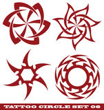 Tattoo circle. Vector set: templates for tattoo and design in the form of the sun on different topics Stock Photo