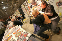 THE TATTOO CONVENTION iIN MILAN Stock Photo