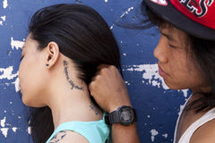 Tattoo culture in Asia Royalty Free Stock Photos