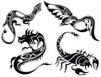 Tattoo design of animals Stock Photography