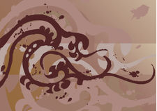 Tattoo design element. A tattoo like vector element/ background royalty free illustration