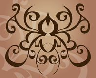 Tattoo design element. A tattoo like vector element/ background stock illustration