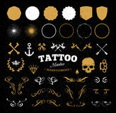 Tattoo Design Elements Royalty Free Stock Photography