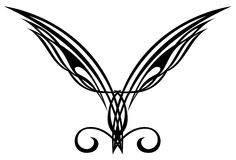 Tattoo design elements. Wings. Stock Photos