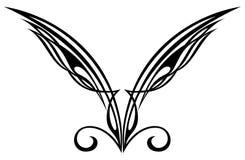 Tattoo design elements. Wings. Tattoo tribal design symbol wings shape Stock Photo