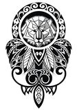 Tattoo design with lion. Decorative design with lion in tattoo style Stock Images