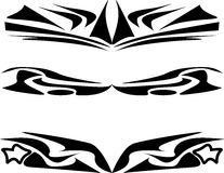 Tattoo design set abstract black isolated on white Royalty Free Stock Photos