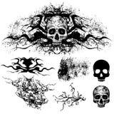 tattoo design set (skull) Stock Photos