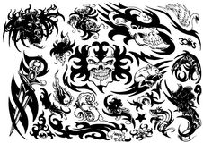 Tattoo design (skull) Royalty Free Stock Photography