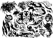 Tattoo design (skull) Royalty Free Stock Photography
