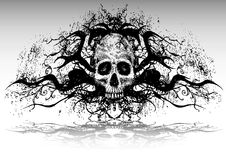 Tattoo design (skull) Stock Photography