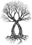 Tattoo design (tree) Stock Images