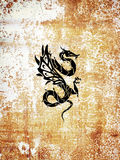 Tattoo dragon stock illustration