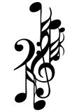 Tattoo dynamic musical background Stock Photo