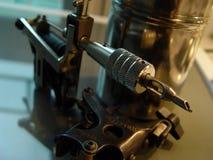 Tattoo Equipment. Close shot of electric tattoo machine Stock Image