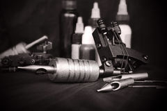 Tattoo equipment Stock Photography