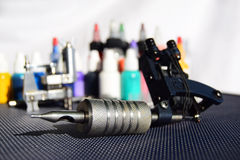 Tattoo equipment Royalty Free Stock Images
