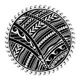 Tribal tattoo in Maori style. Tattoo in ethnic Maori style. Tribal sun shape Royalty Free Stock Photos