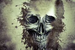 Tattoo evil design with skull Royalty Free Stock Image