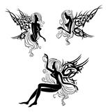 Tattoo with fairies or elves Royalty Free Stock Images