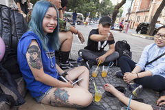 Tattoo fashion in Vietnam Stock Image