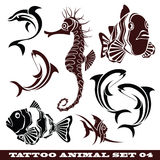 Tattoo Fish. Vector set: templates Fish for tattoo and design on different topics Royalty Free Stock Photography