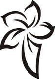 Tattoo_Flower stock de ilustración